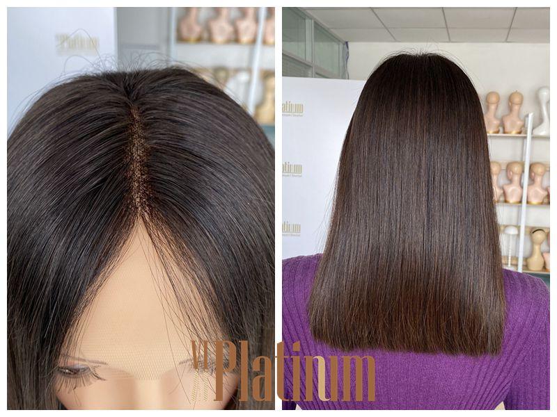 lace top jewish wig 17#4-6
