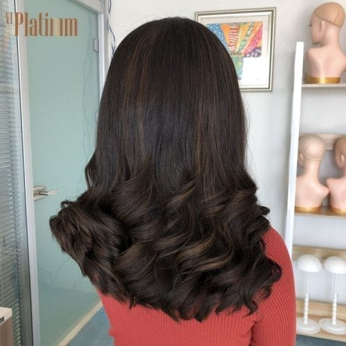 lace top european hair wig