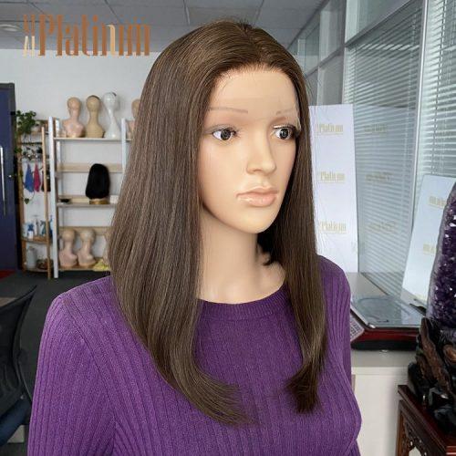 lace top European hair wig 15-16#6-8