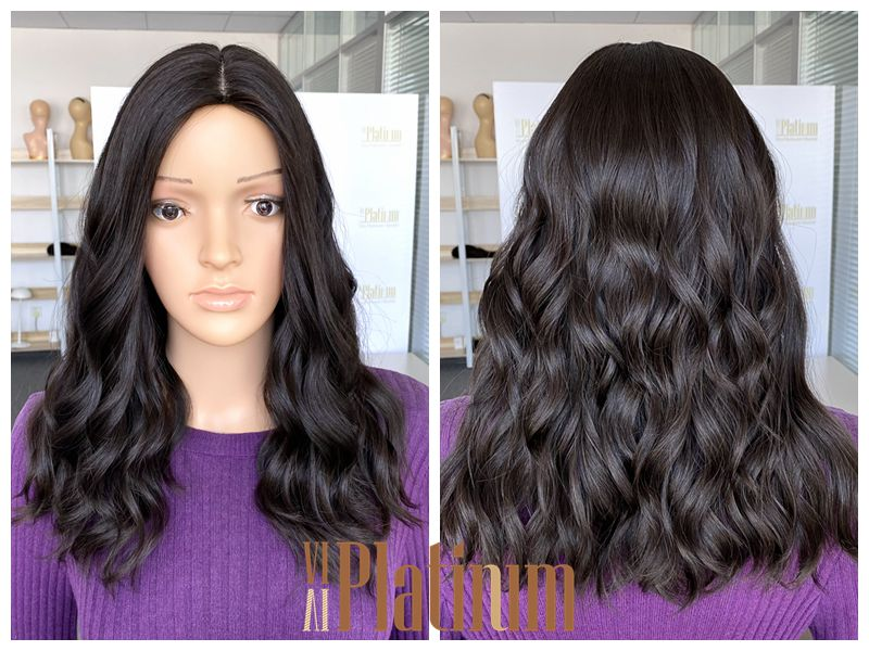 Jewish kosher european hair wig 19#4