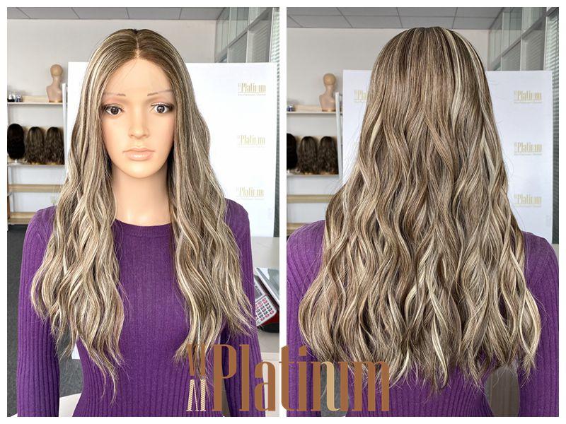 brazilian hair wig 22#ashy blond
