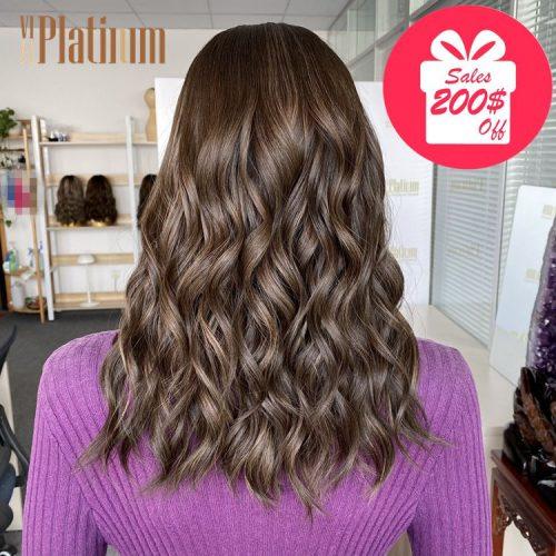 lace top jewish wig 18#4-8