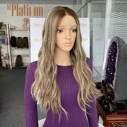 lace top wigs 23-24 #ashy blonde