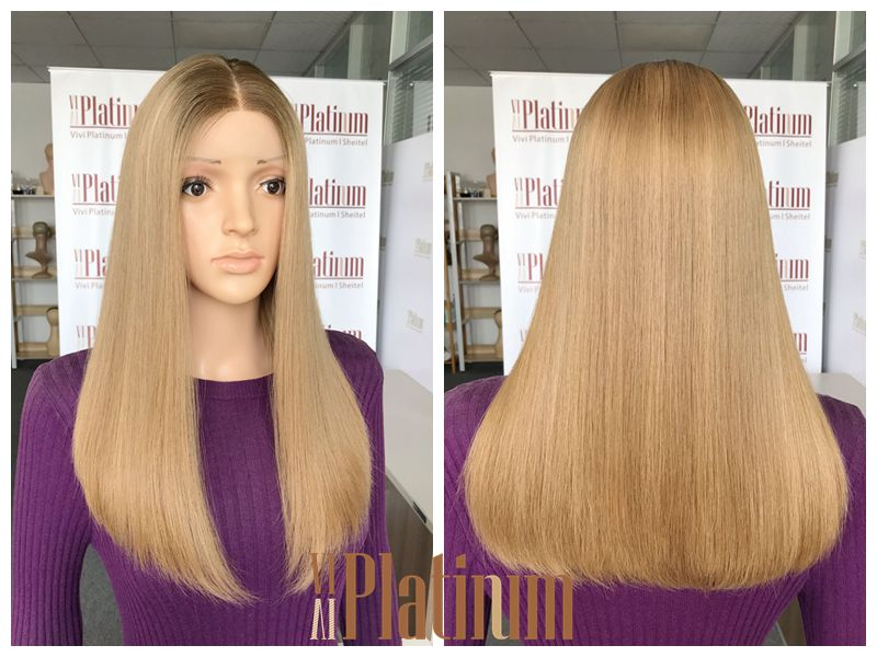 blond lace top wig 18-19#14-16