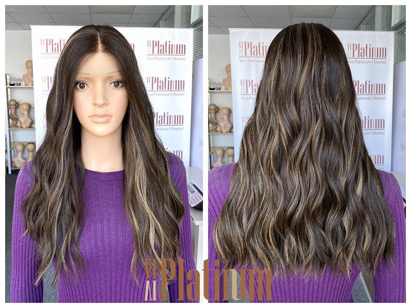 lace top jewish wig 21-22#6-12